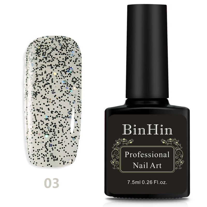 BinHin 7.5ml 6 Colors Gel Nail For Nail Art Design Manicure Top Base Coat Semi Permanent Primer Nail Gel Varnish